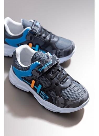 Tonny Black Füme Turkuaz Çocuk Spor Ayakkabı Tbz13 Füme